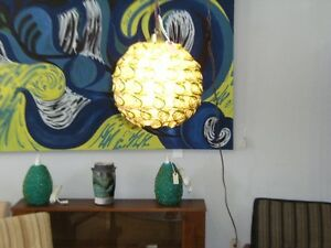 MCM RETRO DOUBLE  SPUN FIBERGLASS SWAG LIGHT Peterborough Peterborough Area image 2