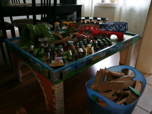 Thomas & Friends table, track, trains and extras