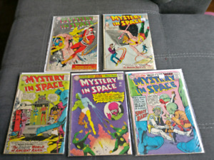 Mystery In Space #86, 87, 101, 102, 104, Silver Age Comic Lot.