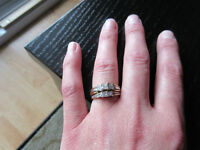 2x engagement rings..2 G's for both or will seperate!