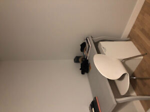 Desk, filing cabinet and chair for sale