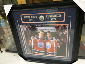 Connor McDavid & Wayne Gretzky framed photo