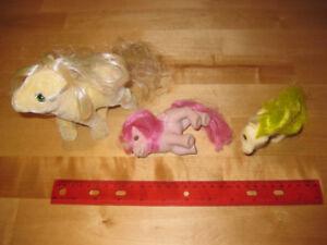 Figurines - Pouliches - 80's ORIGINAL - 3 figurines