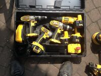 18 volt drills and drivers and 12 volt drywall screw gun