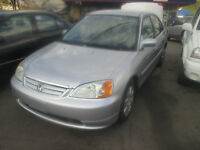2002 HONDA CIVIC COMES SAFETY+ETEST+1YEARWARRANTY $2500