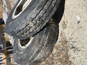 12R24.5 rims and tires,