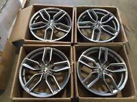 """Set of 4 18"""" alloy wheels only Audi A3 a4 a6 TT Vw golf Passat seat skoda"""