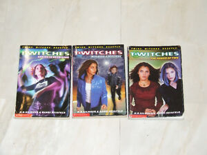 Three different Twitches books featuring twin witches