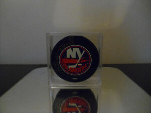 Signed Billy Smith Hockey Puck