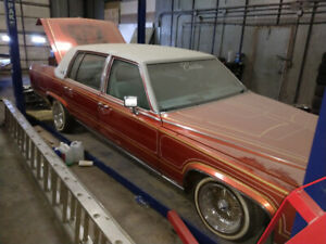 1987 Cadillac brougham with hydraulics and leather interior