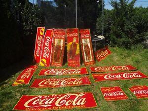 recherche pancarte de liqueur ancienne coca coa pepsi et autres