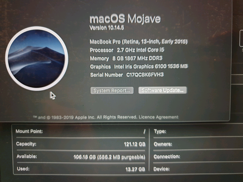 macbook pro early 2015 serial number