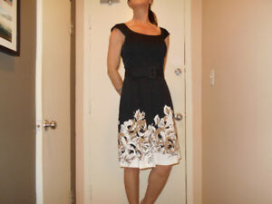 Dress Black with Floral Bottom from Le Chateau