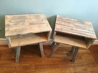 Pallet bedside table side table handmade reclaimed upcycled vintage shabby chic