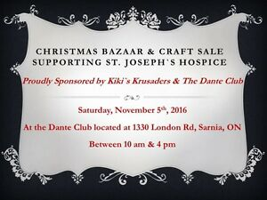 Christmas Bazaar & Craft Sale Supporting St. Joseph`s Hospice