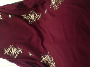 Brand new Dark red dress Indian fashion