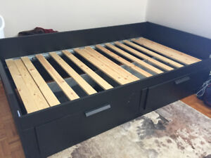 IKEA twin bed frame and full length mirror