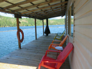 Off the Grid Float Home on Great Central Lake, Port Alberni
