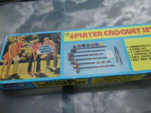Jeux de croquet pour 6 personnes.