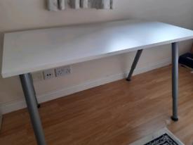 White desk adjustable height