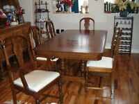 Dinning Room Table & Six Chairs