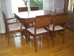 REDUCED Walnut Waterfall Dining Set 30000