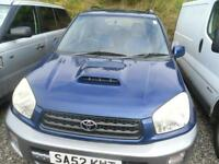2002 TOYOTA RAV 4 2.0 D 4D GX WILL COME WITH FULL YEARS MOT.