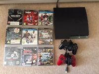 PS3, 9 games & 2 controllers