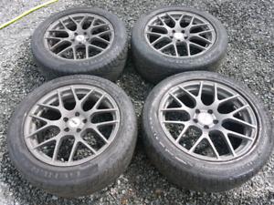 19'' TSW Gunmetal rims with tires 5x114.3