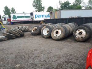 Used commercial truck tire and rim
