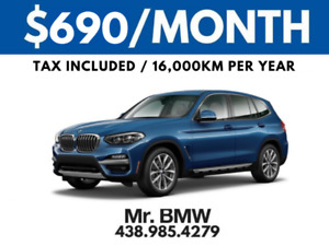 2018 BMW X3 LOADED - $690/Month Plus Tax / 48 Months / $0 Down