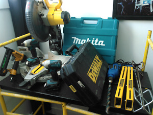 MAKITA DEWALT holesaw drill beton meche percussion mixette