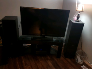 """46"""" Sharp LED 1080P Smart Tv And Stand"""