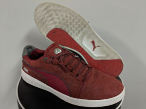 Puma BMW Grille Suede Red Size 8.5 casual sneakers shoes