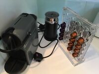 Nespresso machine with milk frother and extras!