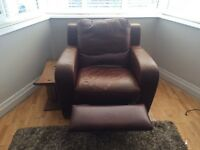 Cookes leather reclining chair