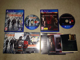 Ps4 games the division & metal gear solid phantom pain for sale or swap