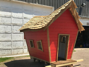 Crooked children's playhouse
