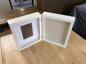Glass with frame and pin cushion area.