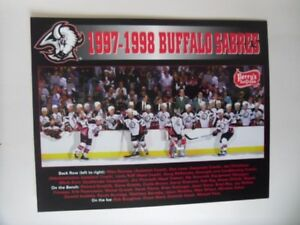 BUFFALO SABRES Official 8x10 Perry's Team Issued Color Picture.