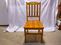 Four Wooden Chairs ($25.00 each)