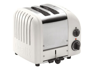 Dualit 2 slice handmade toaster chrome and white (Brand New)