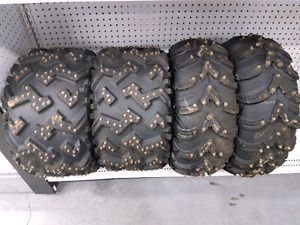 Studded 400ex tires and rims for sale