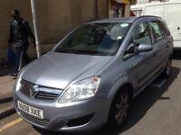 Vauxhall Zafira 1.6 petrol MANAUL PCo badge mot & tax £850