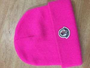 MONCLER hat for sale (neon pink)