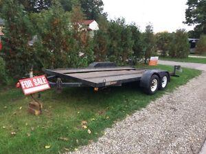 Intruder car hauler trailer 17x6.7 2100$obo