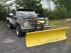 AS IS WHERE IS. 1987 DIESEL BLAZER PLOW TRUCK