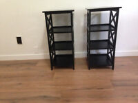 2 x End Tables/Bedside Tables/Shelf units