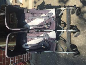 Twin Maclaren triumph stroller - Grey plus double storage bag!