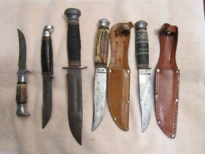 ANTIQUE  HUNTING  KNIVES